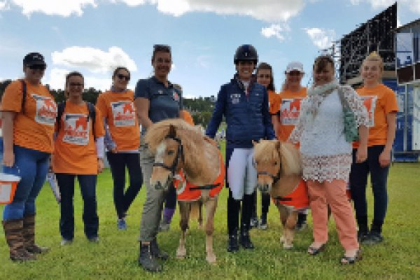 Charlotte DuJardin and Brooke fundraisers at Bolesworth