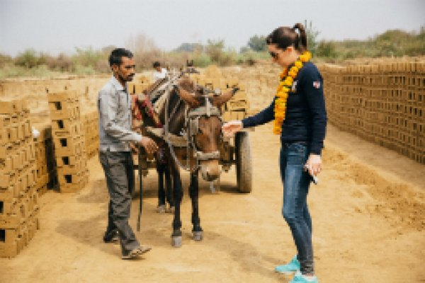 Charlotte Dujardin in India's brick kilns