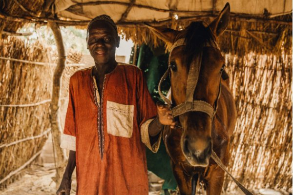 Man and his horse in Senegal