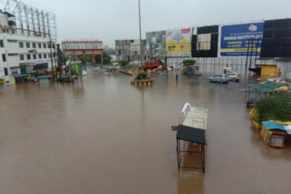 Flooded Sangalwadi Area in Maharashtra