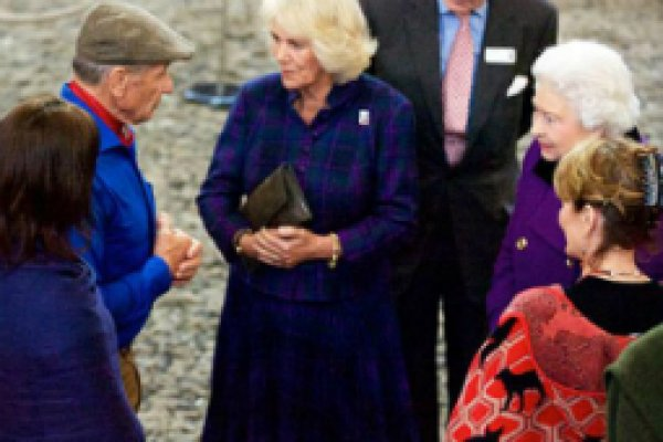 Monty Roberts with Brooke president HRH Duchess of Cornwall