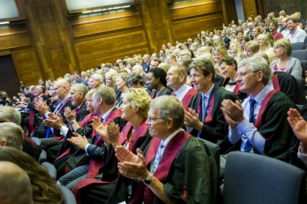 Audience applaud at Royal College Day