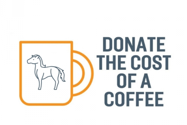 Donate the cost of a coffee
