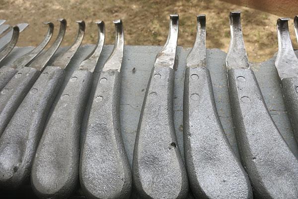 Locally made hoof knives