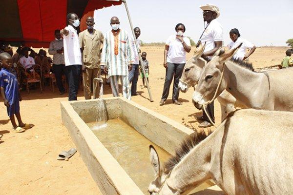 New borehole in Burkina Faso
