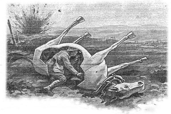 Dummy horse illustration from WWI