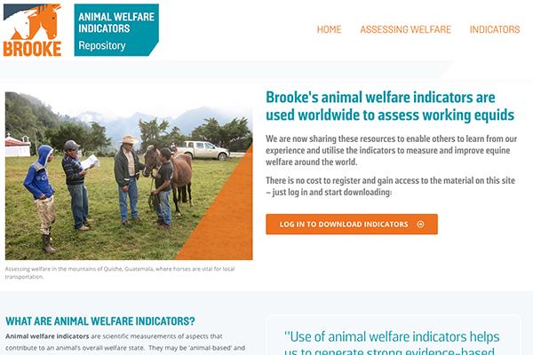 Brooke's animal welfare indicators repository homepage