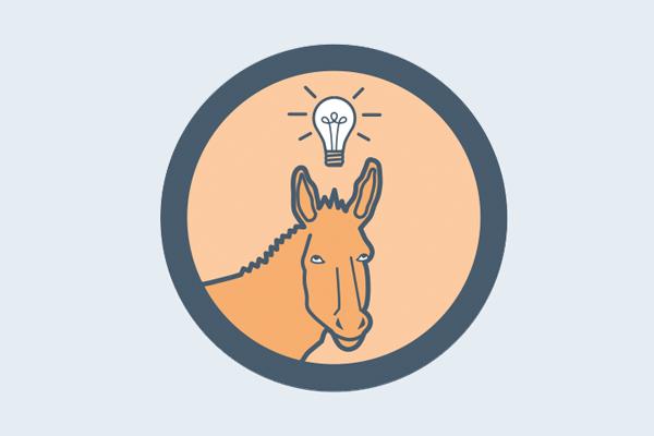 Mules problem-solving - illustration