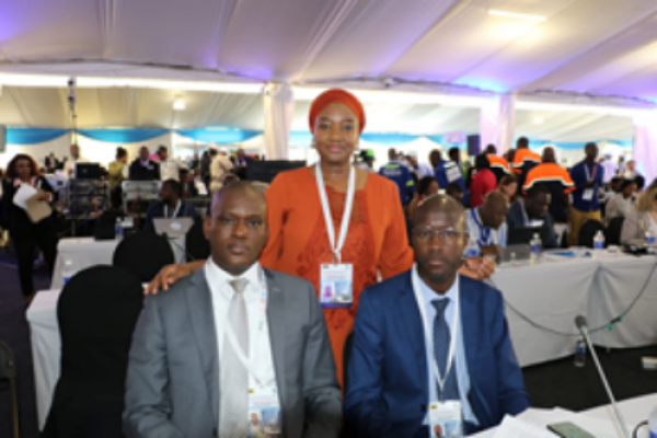 Rouguiatou at the ARFSD in Zimbabwe with the Senegalese delegation