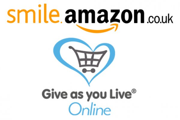 Amazon and Give as you Live logos