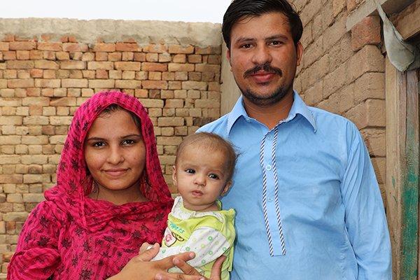 Waqas and Tayyba at the brick kiln