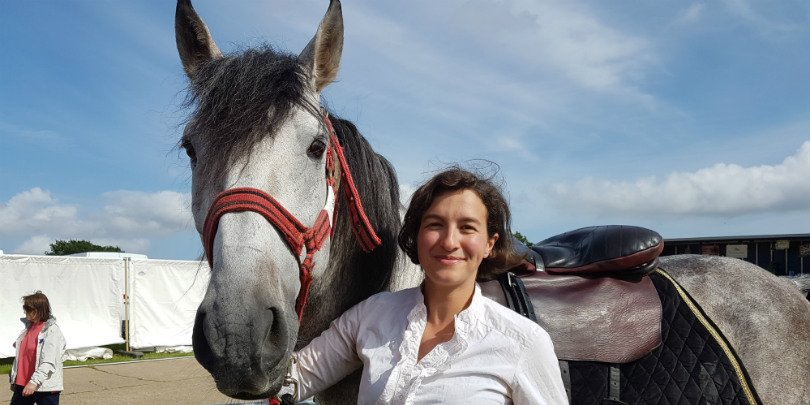 Devil's Horsemen trainer Camilla Naprous and her horse Moses