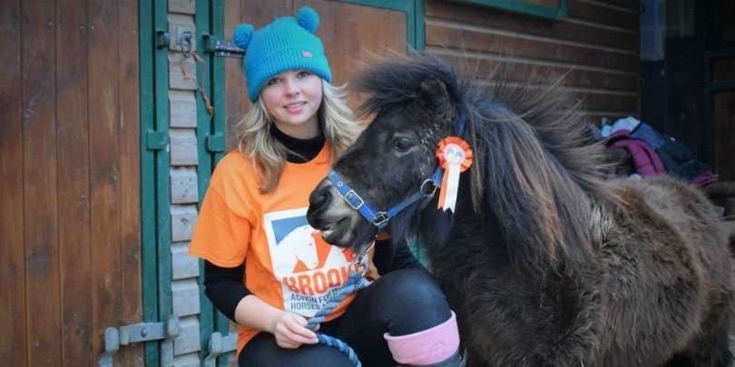 Hannah Russell and her miniature Shetland pony, Little Alf