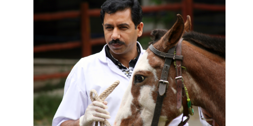 Dr Javed Gondal with horse