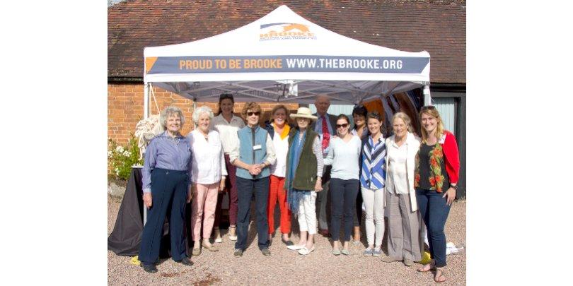 A Brooke volunteer fundraising group