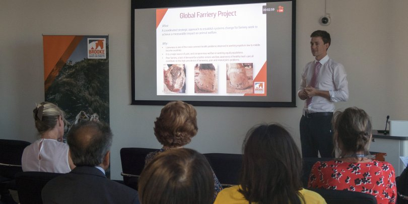 Global farriery presentation at Brooke