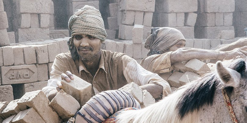 Brick kiln workers in India