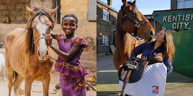 A girl with her horse in Senegal / Ebony and her horse Francis Albert