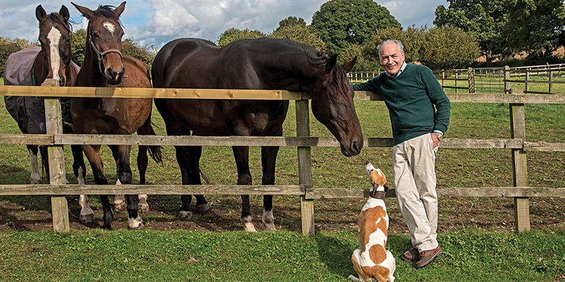 Alastair Stewart with some of his horses