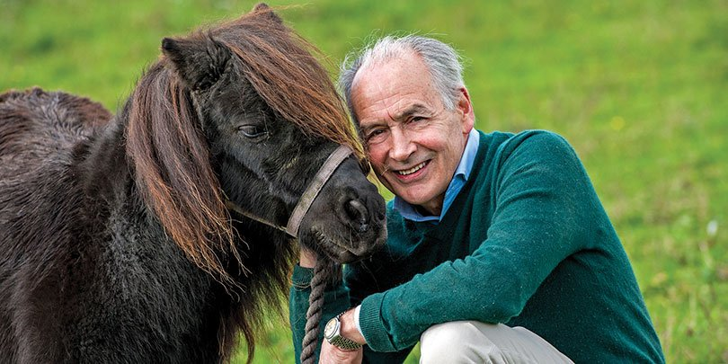 Alastair Stewart with one of his ponies
