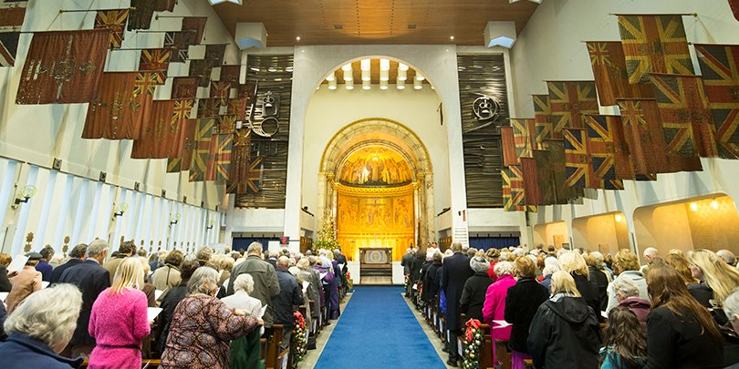 Christmas carol service at the Guards' Chapel