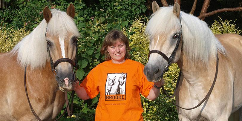Petra with two of her horses