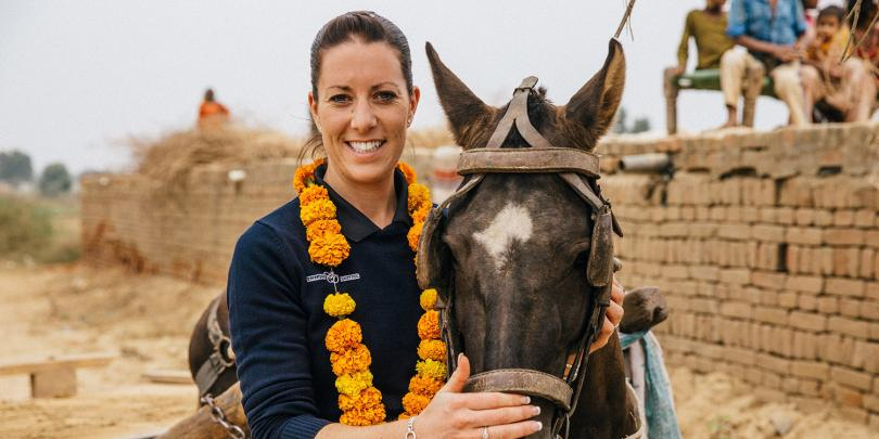 Charlotte Dujardin in India with Brooke