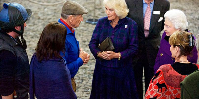 HRH the Duchess of Cornwall with Brooke Global Ambassador Monty Roberts