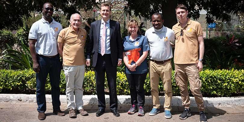 Alastair Stewart in Senegal with Brooke