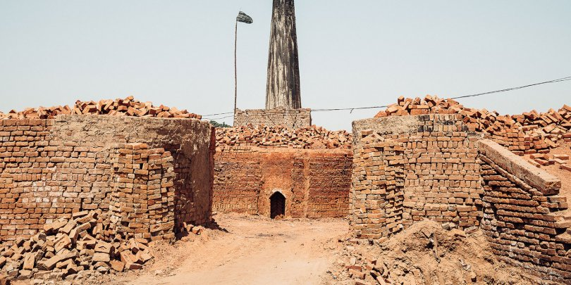 Brick kiln in Pakistan