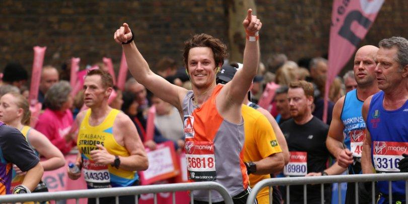 London Marathon Brooke runner