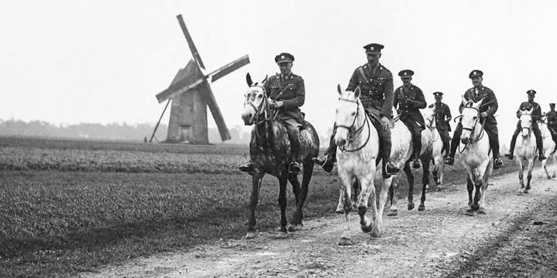 Members of the Royal Scots Greys near Brimeux, France in 1918