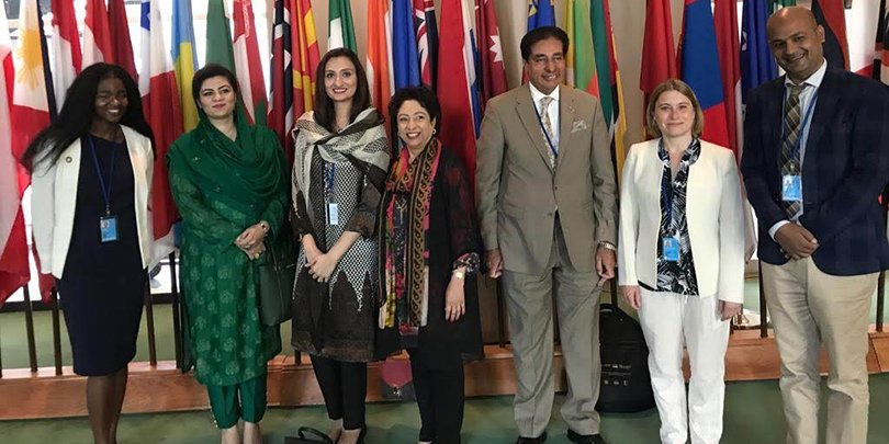 Brooke meeting with the former Ambassador from Pakistan to the UN to discuss brick kilns