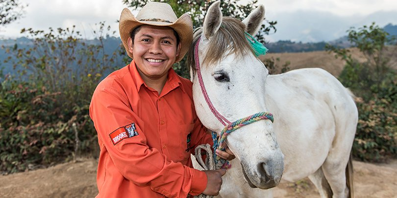 Man and horse in Guatemala