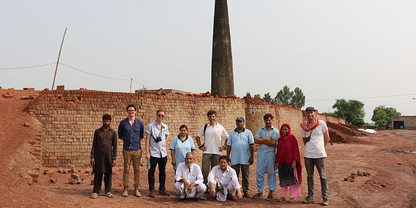Brooke filming in Pakistan