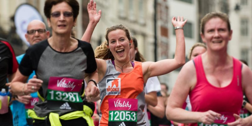 Runner Laura Skippen at the London Vitality 10,000 run