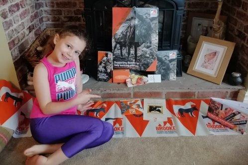 Fundraiser Anya at home