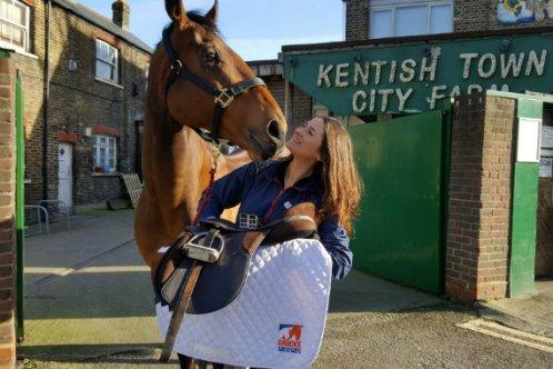Brooke vet Ebony and her horse Francis Albert