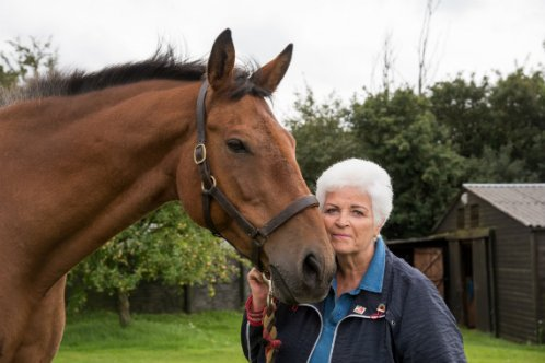 Pam St. Clement supports Brooke during Remember A Charity Week