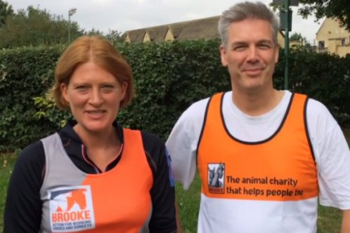 Brooke fundraisers Carolyne Crowe and Brian Faulkner