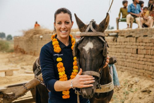 Charlotte Dujardin in India brick kiln