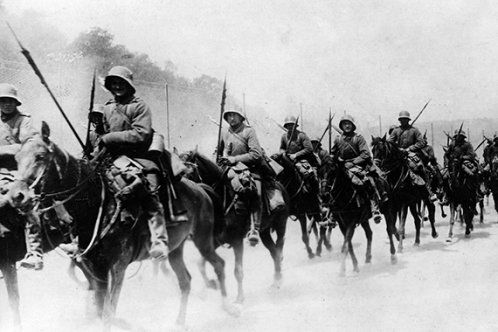 German Cavalry advancing
