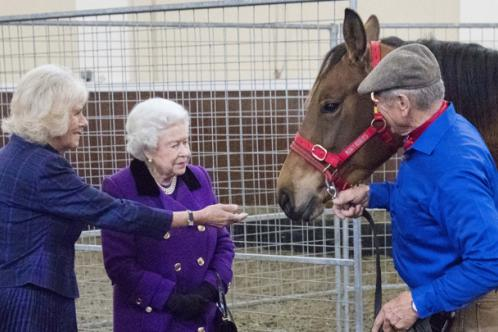 Her Majesty The Queen, The Duchess of Cornwall and Brooke Ambassador Monty Roberts