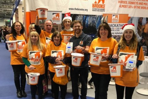Brooke fundraisers with collection tins