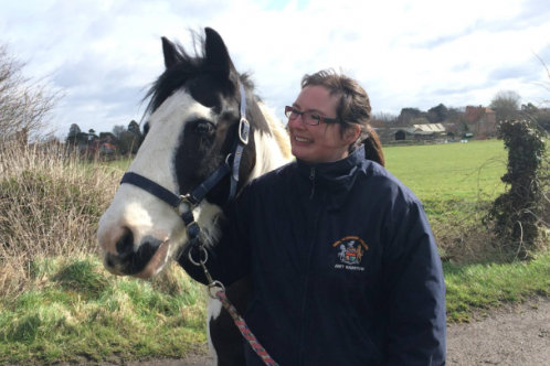 Dr Amy Barstow and horse