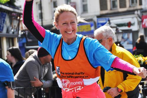 Caroline Robinson at the London Marathon