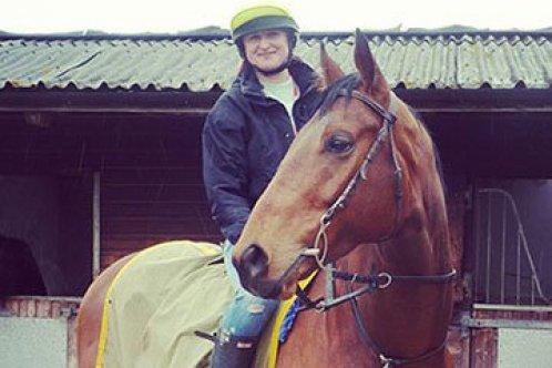 Ebony and her horse