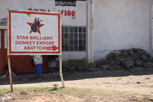 Sign for an donkey abattoir