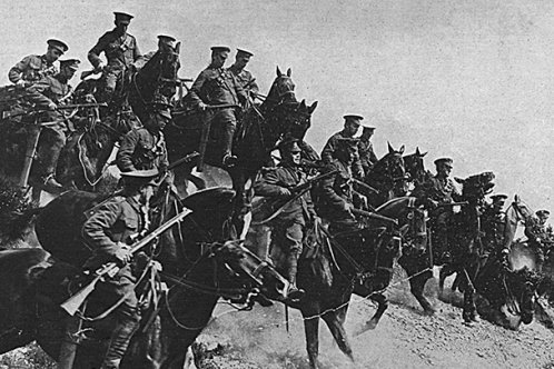 British mounted troops
