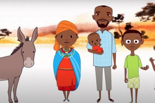 Sustainable development animation slide